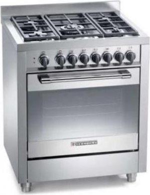 Tecnogas cucina a gas 5 fuochi forno a gas ventilato con for Cucina 5 fuochi 70x60