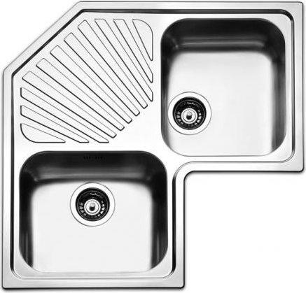 Apell Lavello Cucina Angolare 2 Vasche Con Gocciolatoio Larghezza 83 Cm Materiale Acciaio