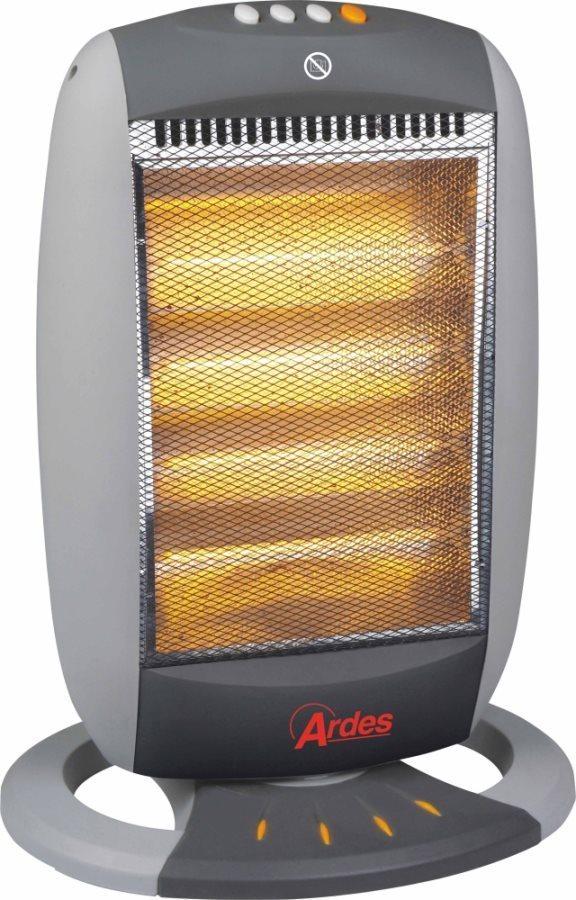 Ardes stufa elettrica alogena a basso consumo potenza max 1600 watt oscillante con termostato - Stufa elettrica a basso consumo ...