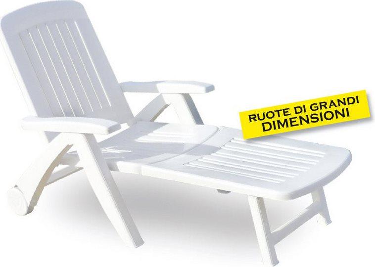 Sdraio da giardino bica 45 bianco arredo giardino e - Lettino da mare prendisole per spiaggia giardino in ...