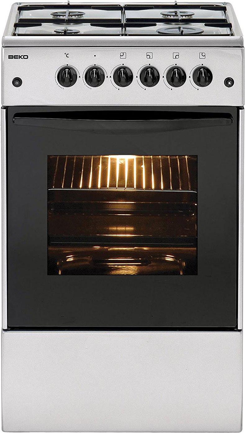 Beko Cucina A Gas 4 Fuochi Forno Elettrico Larghezza X