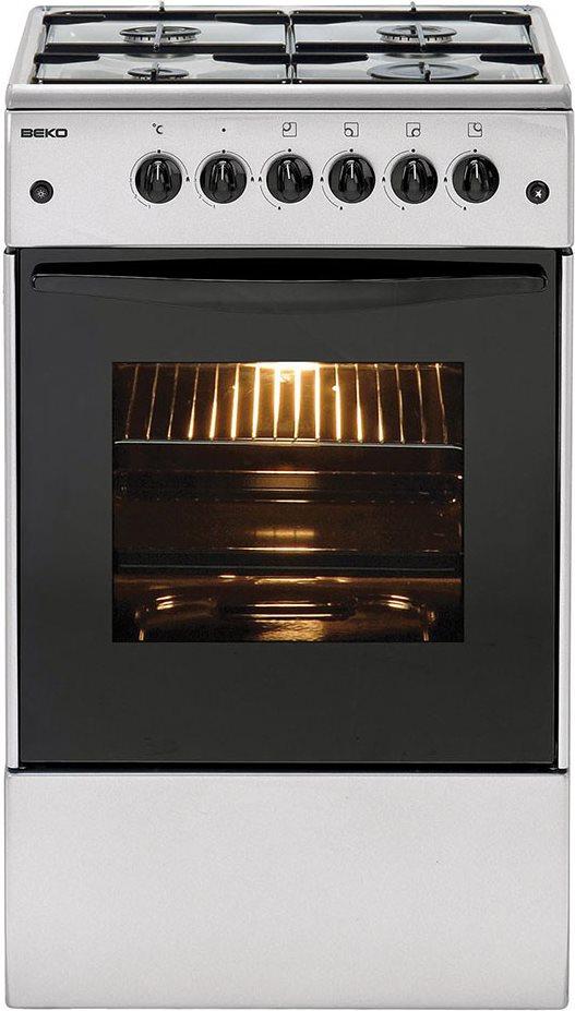 Beko cucina a gas 4 fuochi forno elettrico larghezza x - Consumo gas cucina ...