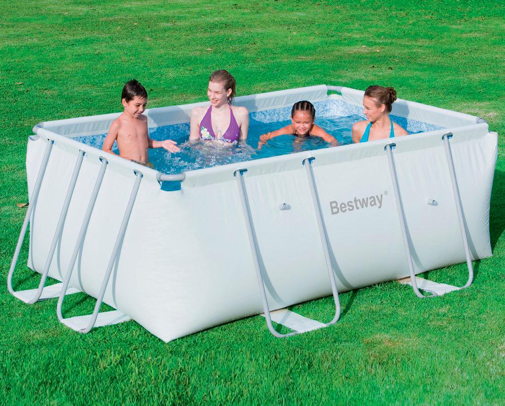 Piscina fuori terra bestway telaio portante rettangolare 287x201x100 h 56248 piscine fuori - Piscina fuoriterra bestway ...