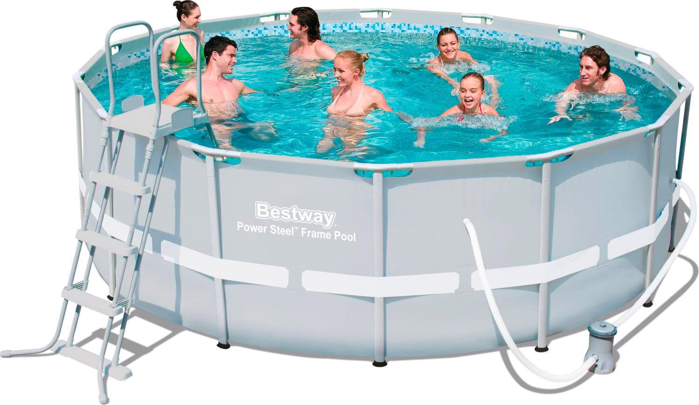 Piscina fuori terra bestway telaio portante rotonda for Pompa x piscina esterna