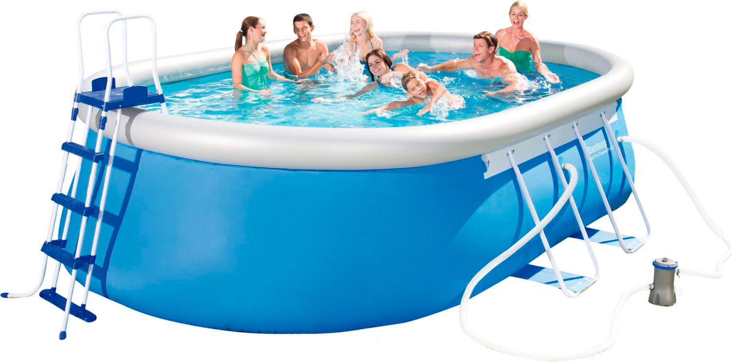 Bestway piscina fuoriterra fuori terra ovale da giardino - Piscina giardino fuori terra ...