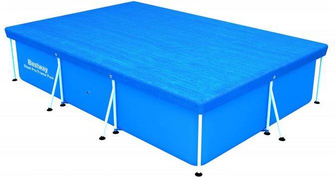 Bestway telo copertura per piscina rettangolare cm 300x201 for Asciugacapelli a parete per piscine