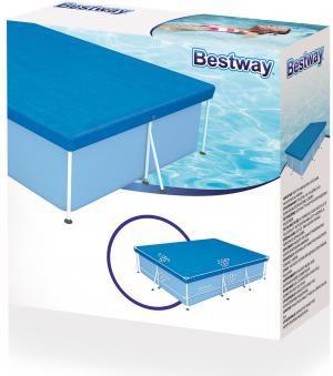 Bestway telo copertura per piscina rettangolare cm 300x201 - Telo copertura piscina ...