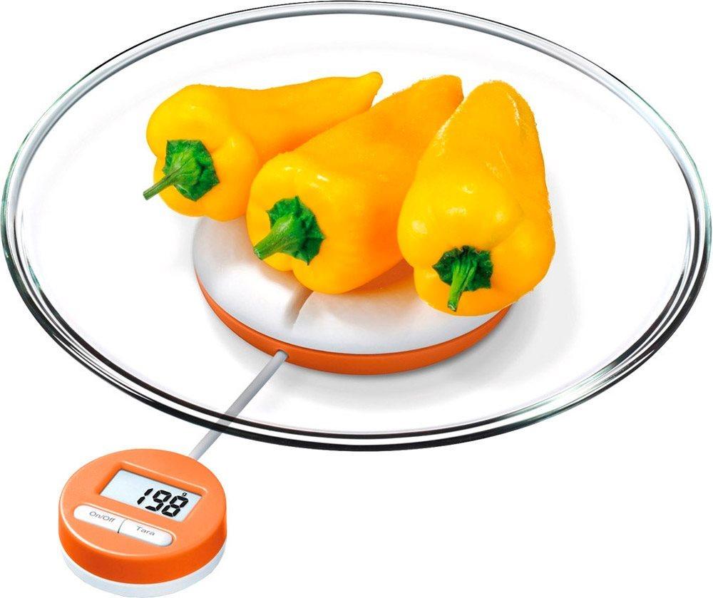 Beurer bilancia da cucina digitale portata 3 kg funzione tara colore bianco arancione ks 21 - Bilancia da cucina digitale ...