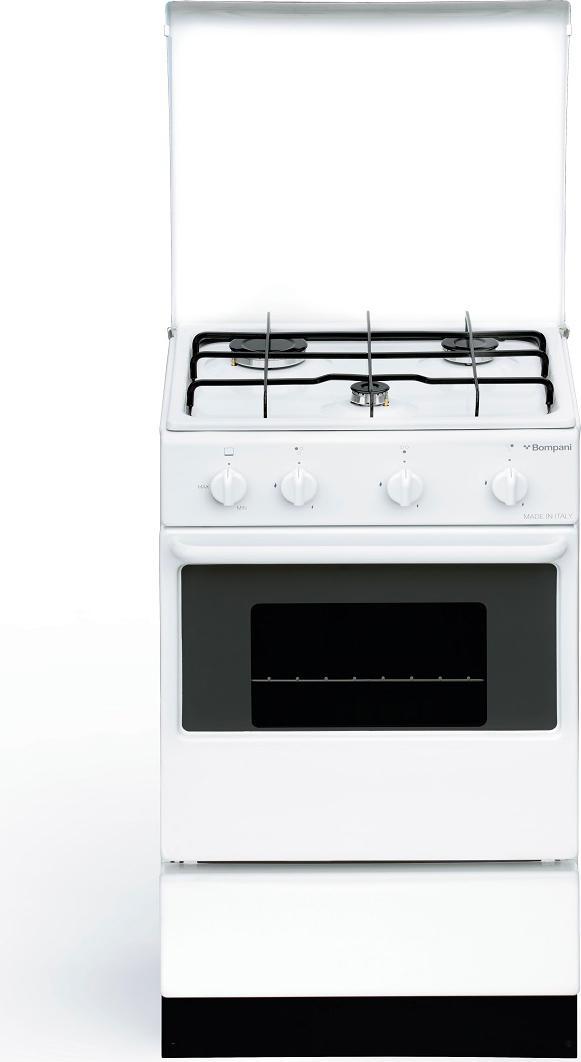Cucina bi 910 aan bompani 3 fuochi a gas con forno a gas bianca ebay - Bompani cucine a gas ...