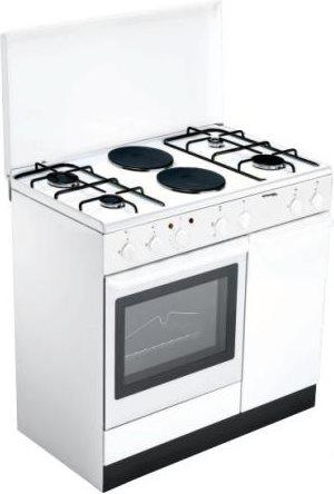 Bompani cucina a gas 4 fuochi 2 piastre forno elettrico - Cucina con piastre e forno elettrico ...
