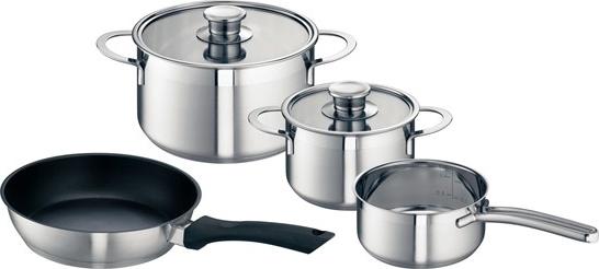 Bosch set di pentole e padelle per piani cottura ad induzione in acciaio hez390042 87666 - Pentole per cucine a induzione ...