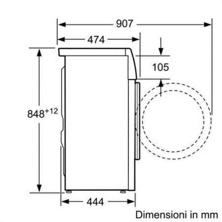 Lavatrice slim classe a kg 6 profondit cm 45 wlo20220it - Profondita lavatrice ...