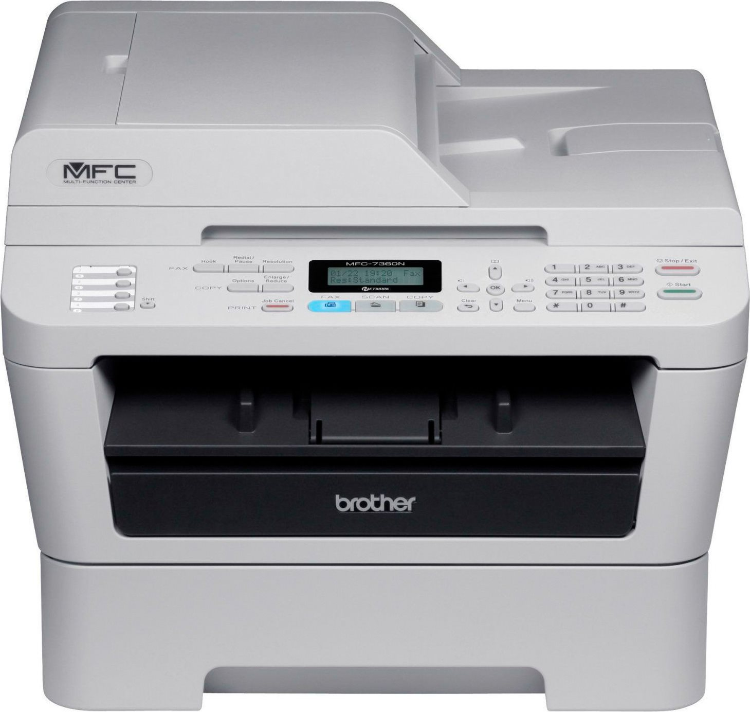 how to send a fax on a brother mfc 7360n