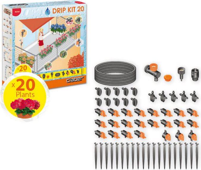 Claber set irrigazione giardino balcone per 20 piante - Irrigazione balcone ...