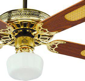 Dcg eltronic ventilatore da soffitto con luce 4 pale con for Lampadario a pale brico