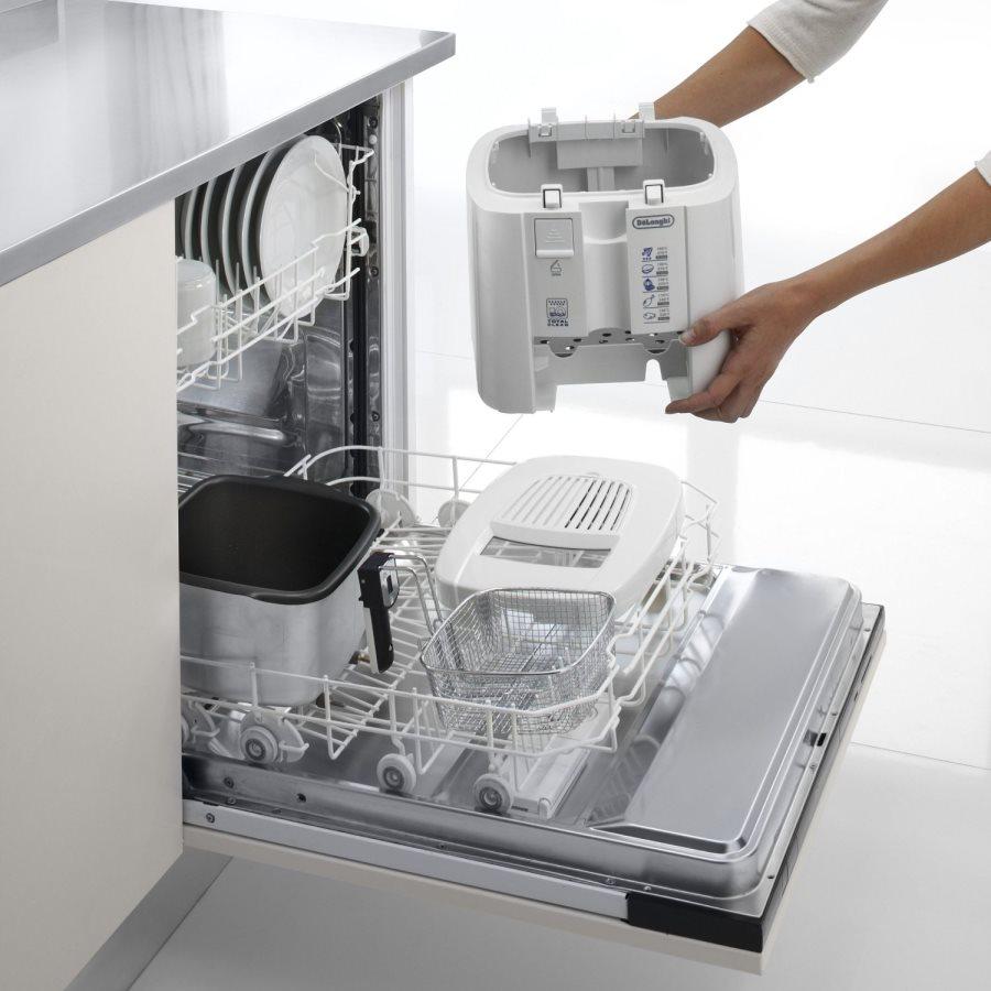 de longhi friggitrice elettrica capacit 1 2 litri potenza 1200 watt colore bianco f13235 48395. Black Bedroom Furniture Sets. Home Design Ideas