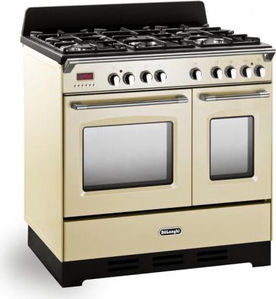 De longhi cucina a gas 5 fuochi forno elettrico ventilato grill mem 965t ba - Cucina con forno a gas ventilato ...