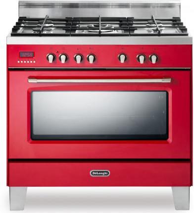 Cucina a gas de longhi mem 965 rcx forno elettrico for Cucina 6 fuochi con forno