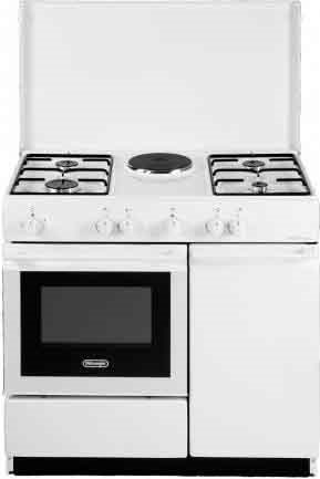 De longhi cucina a gas 4 fuochi 1 piastra forno for Stufe a gas metano de longhi