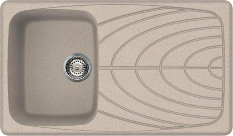 Elleci lavello cucina incasso 1 vasca gocciolatoio 86 cm - Lavello cucina avena ...
