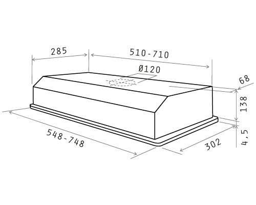 Elica cappa cucina filtrante incasso sottopensile 80 cm acciaio eliplanex ix f ebay - Cappa cucina 60 cm ...