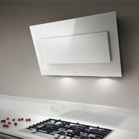 Elica Cappa Cucina Filtrante Parete 90 Cm X 33 Cm Bianco Vertigo Wh F 90