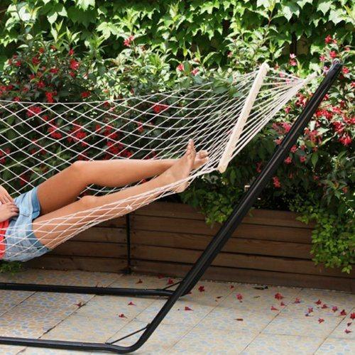 Amaca da giardino a rete amaca rete singola arredo for Giardini arredo esterno