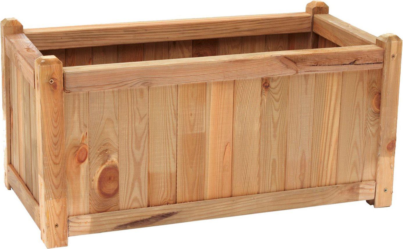 Fioriera da esterno in legno cassetta 40x80 arredo for Giardini da esterno