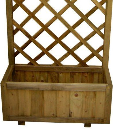 Fioriera in legno fioriera con grigliato 30x75x180 arredo for Fioriera rettangolare con spalliera