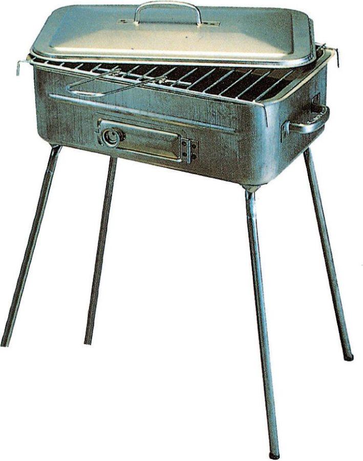 Giardini del re barbecue carbonella bbq barbecue portatile da giardino in acciaio 25x36 cm con - Barbecue portatile a carbonella ...