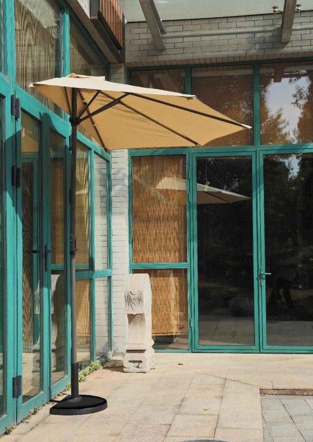 Giardini del re ombrellone da esterno giardino a parete 1 2 tondo 2 7 metri in alluminio con - Ombrelloni da giardino brico ...