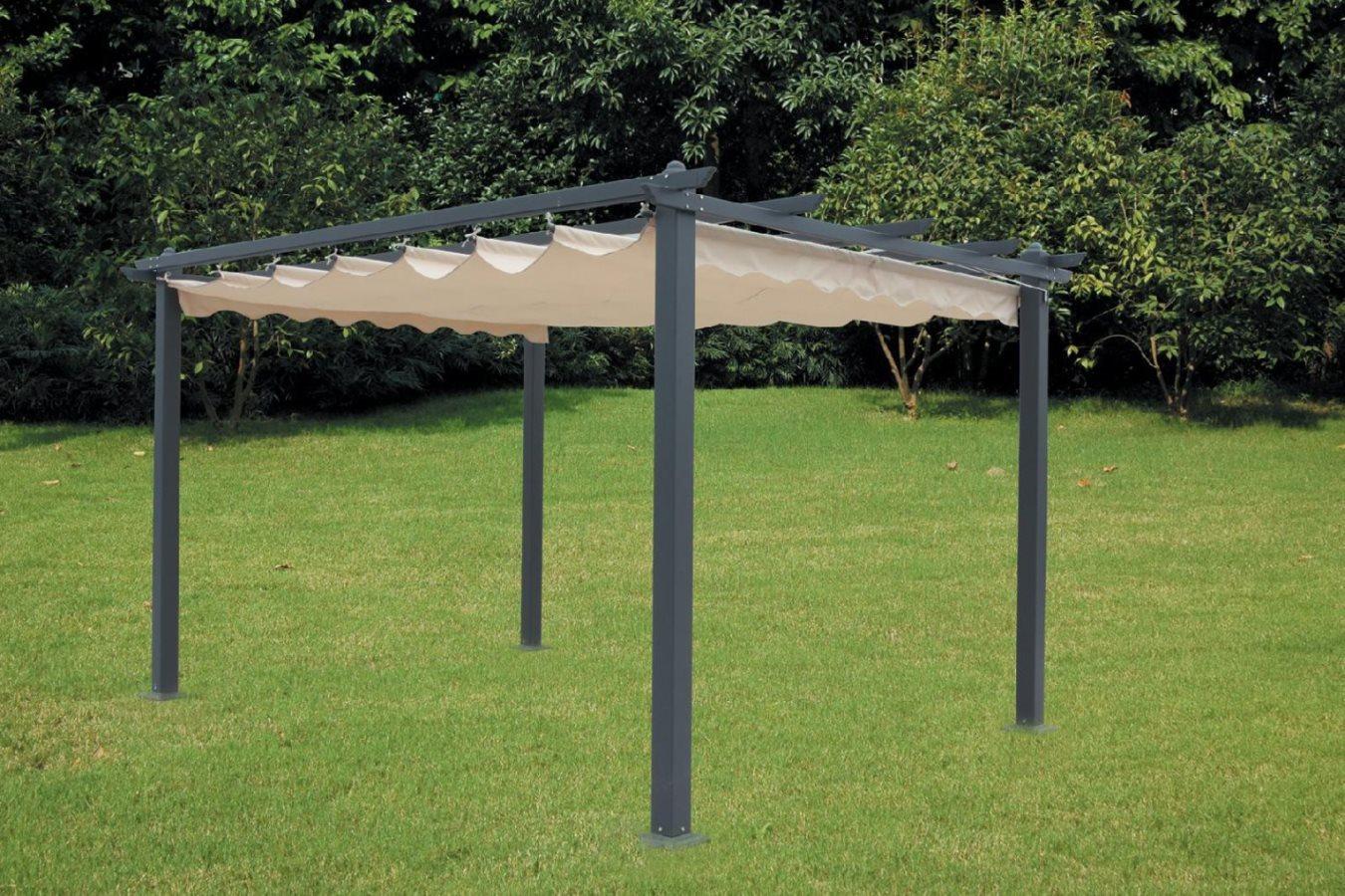 Pensilina pergola alluminio retrattile arredo giardino - Pergola da giardino ...
