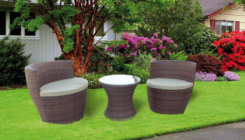 Set da giardino salotto rattan anfora offerte arredo for Giardini arredo esterno