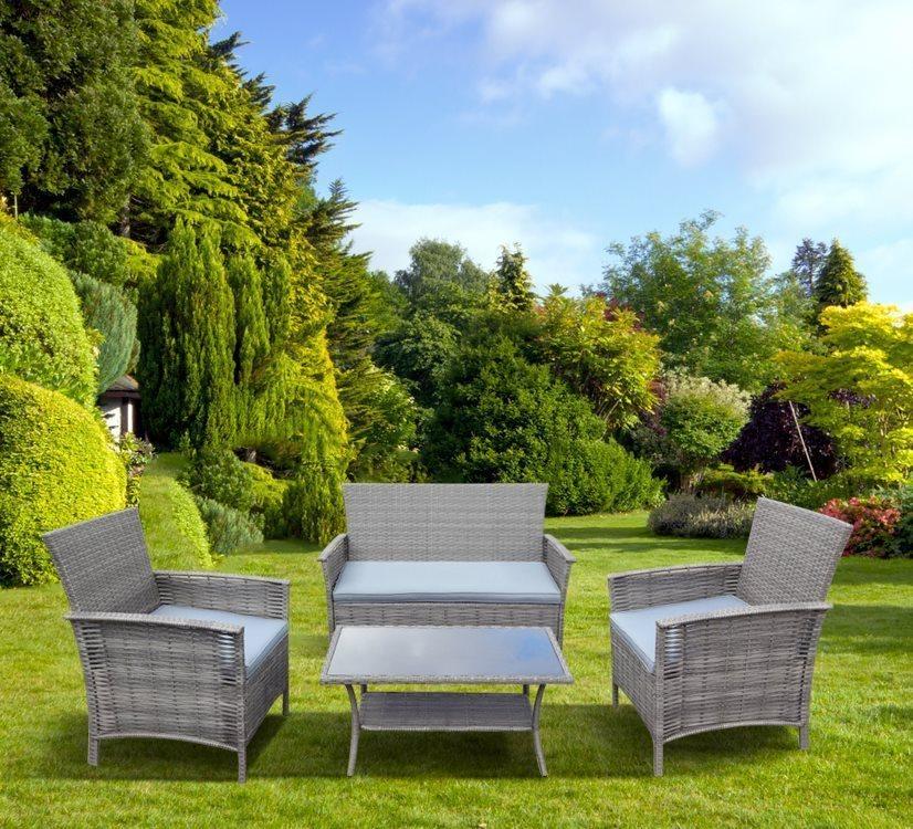 Set da giardino salotto rattan naxos 4 pz offerte arredo for Offerte arredo giardino
