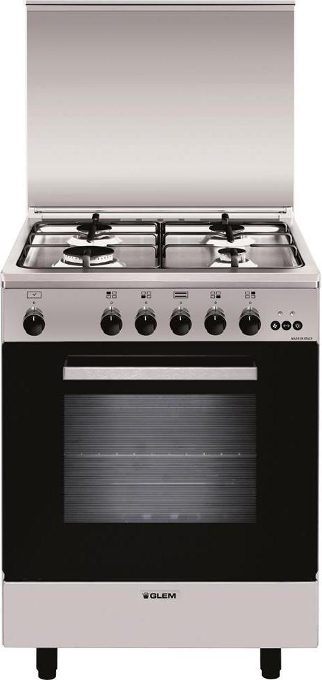 Cucina a gas glem gas a654vi forno a gas ventilato 60x50 - Cucina a gas glem ...