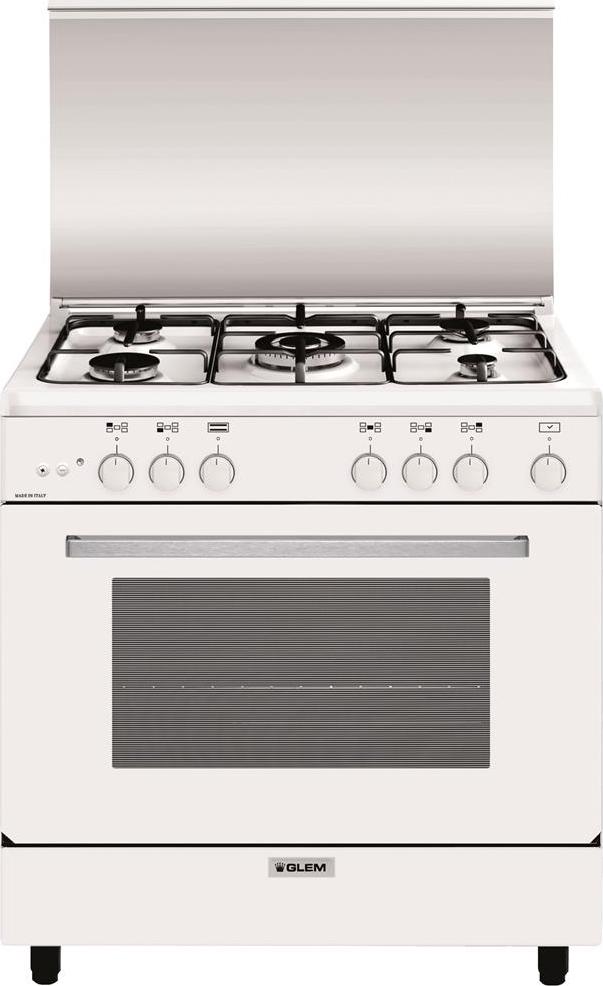 Cucina a gas glem gas a855gx forno a gas 80x50 - Cucina a gas glem ...