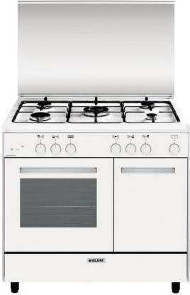 Glem gas cucina a gas 5 fuochi forno a gas grill 90x60cm - Consumo gas cucina ...