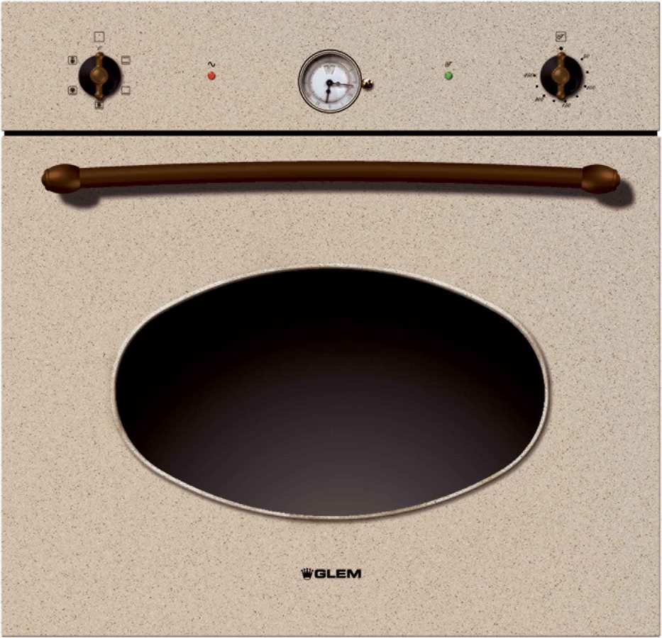 Glem gas forno elettrico da incasso multifunzione ventilato con grill capacit in litri 54 - Forno a gas ventilato da incasso ...
