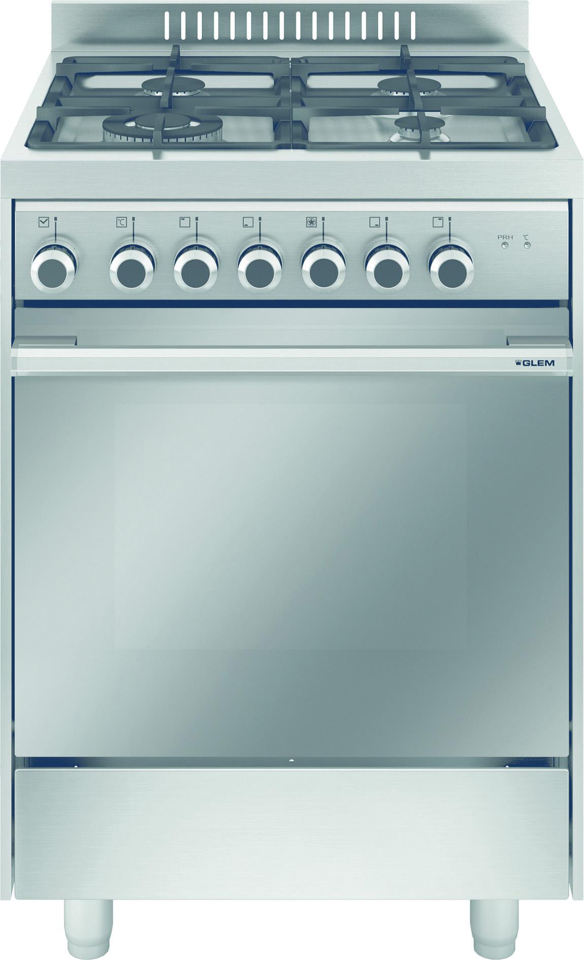 Glem gas cucina a gas 4 fuochi forno elettrico - Consumo gas cucina ...