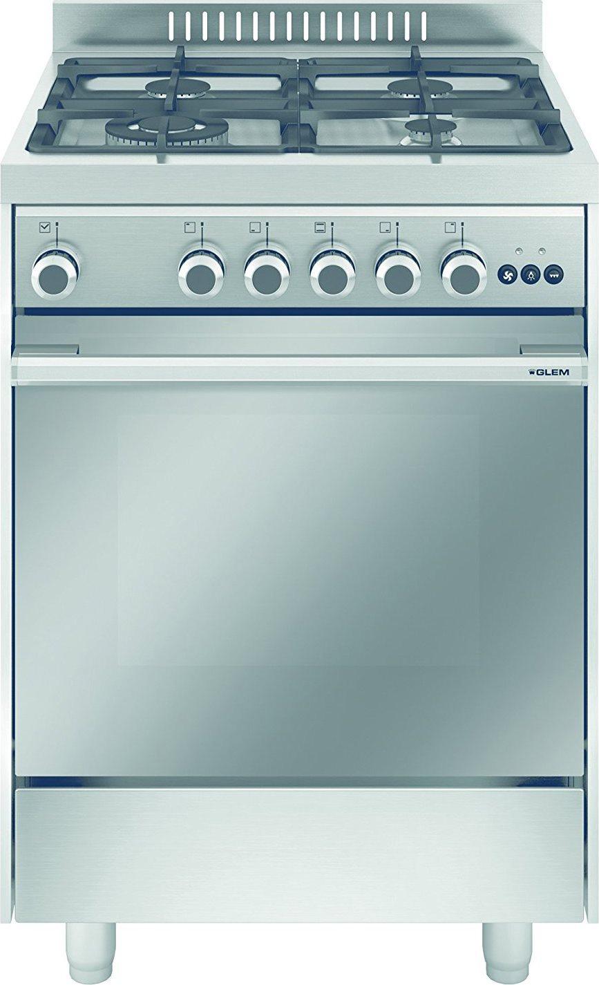 Glem gas cucina a gas 4 fuochi forno a gas multifunzione - Cucina a gas glem ...