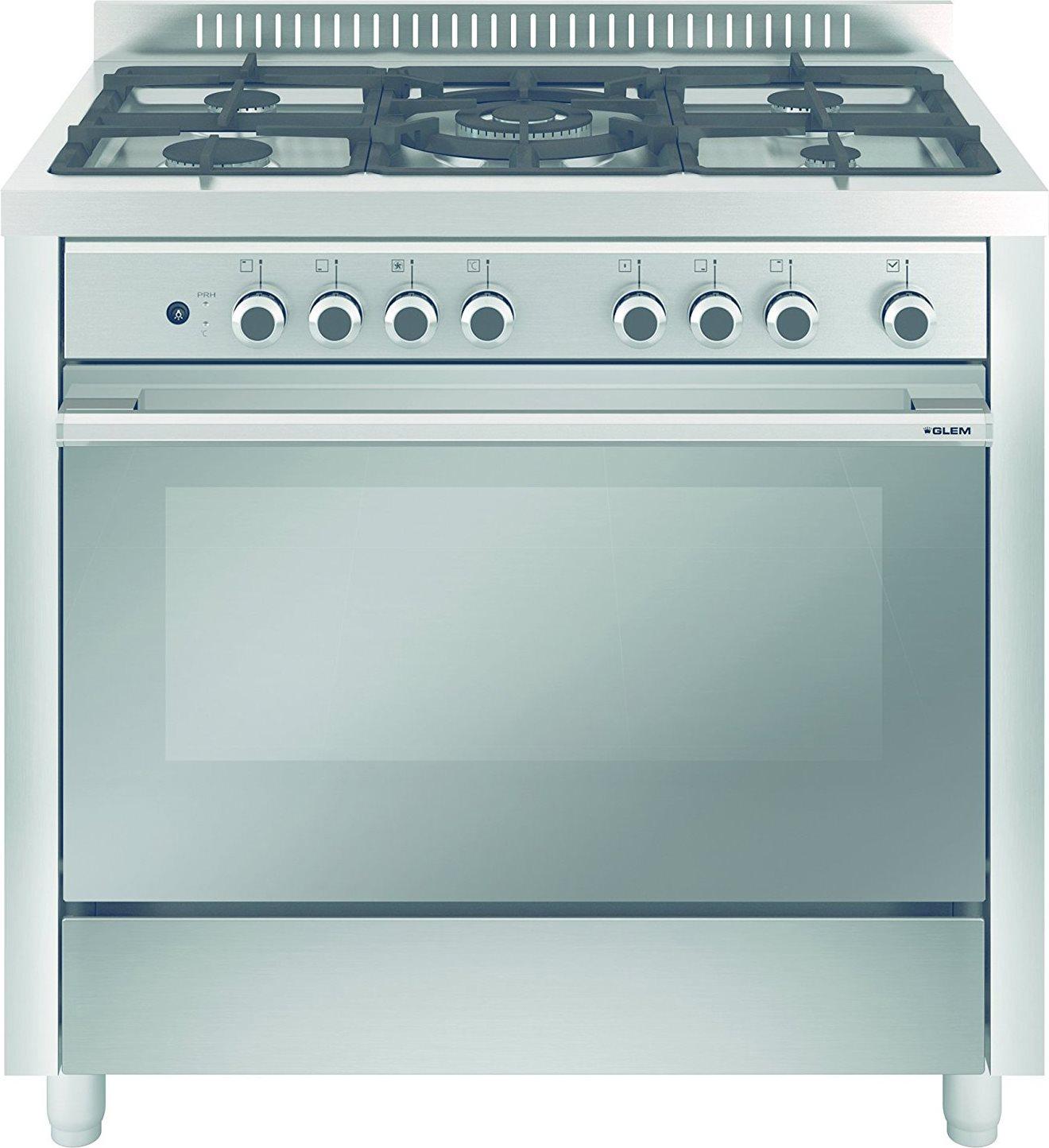 Glem gas cucina a gas 5 fuochi forno elettrico - Forno con funzione pizza ...