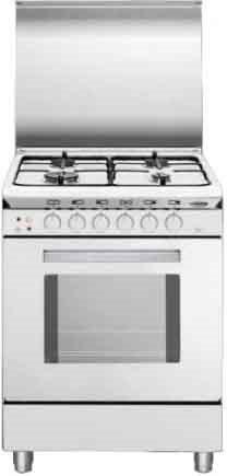 Glem gas cucina a gas 4 fuochi forno elettrico ventilato con grill elettrico larghezza x - Cucina con forno ventilato ...