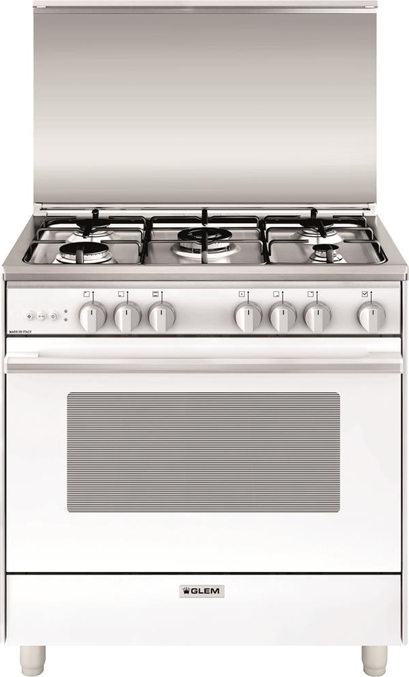 Cucina a gas glem gas u855vx forno a gas ventilato 80x50 - Cucina a gas glem ...