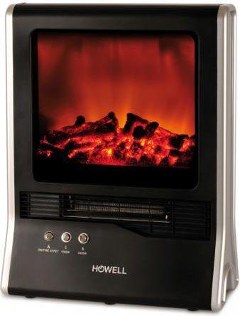 Howell camino caminetto elettrico moderno effetto fiamma for Finto camino elettrico
