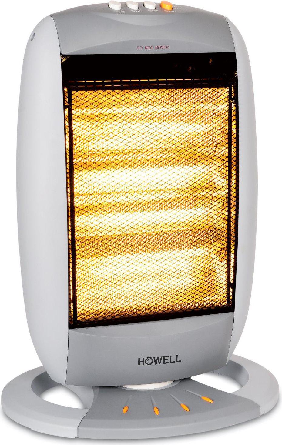 Howell stufa elettrica alogena a basso consumo potenza max 1800 watt oscillante sa1810 38834 - Stufa alogena basso consumo ...