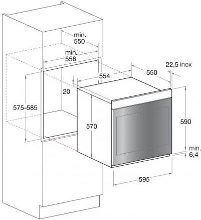 Forno ariston fk 1041l x ha cf serie luce forno for Forno da incasso ariston autopulente