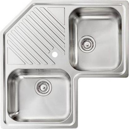 Hotpoint ariston lavello cucina angolare 2 vasche con gocciolatoio larghezza 83 cm materiale - Lavello cucina angolare ...