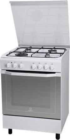 Indesit cucina a gas 4 fuochi forno elettrico multifunzione ventilato con grill larghezza x - Cucina con forno ventilato ...