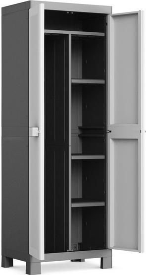 Kis armadio portascope da esterno in resina con 4 ripiani lucchettabile cm 65x45x182 h logico - Mobile portascope da esterno ...