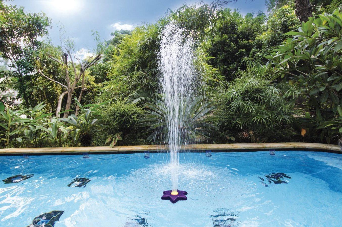 Kokido fontana per piscine fuoriterra da giardino for Asciugacapelli a parete per piscine